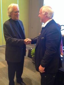 Larry Dossey och Börje Peratt på Health Conference Grand Rapids USA 2014